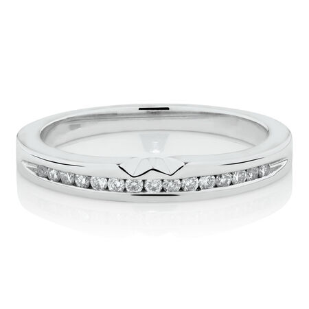 Online Exclusive - Ring with Diamonds in 18ct White Gold