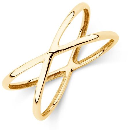 Geometric Ring in 10ct Yellow Gold
