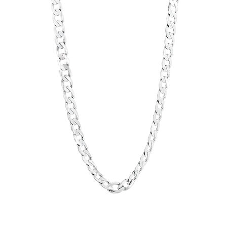 Curb Chain in 10ct White Gold