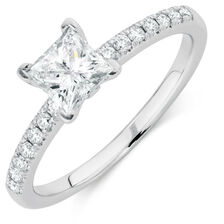 Online Exclusive - Engagement Ring with 0.86 Carat TW of Diamonds in Platinum