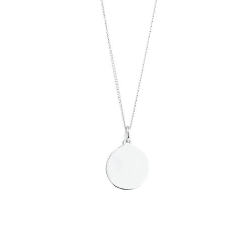 Circle Pendant in Sterling Silver