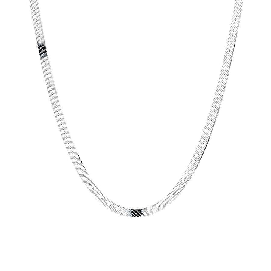 """50cm (20"""") Herringbone Snake In Sterling Silver"""