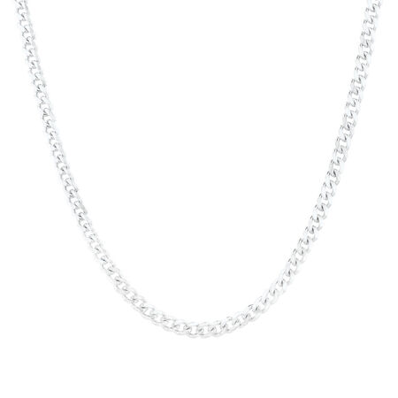 "60cm (24"") Curb Chain in Sterling Silver"