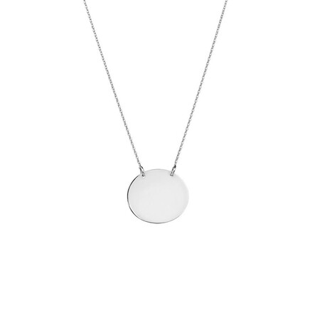 Oval Necklace in Sterling Silver