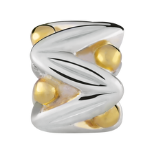 10ct Yellow Gold & Sterling Silver Fancy Charm