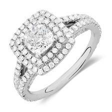 Sir Michael Hill Designer GrandArpeggio Engagement Ring with 1.95 Carat TW of Diamonds in 14ct White Gold
