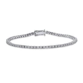 Tennis Bracelet with 1.00 Carat TW of Diamonds in 14ct White Gold