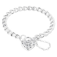 Online Exclusive - Padlock Curb Bracelet In Sterling Silver