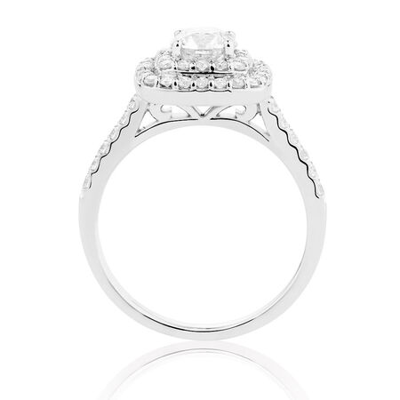 Online Exclusive - Engagement Ring with 1 1/4 Carat TW of Diamonds in 14ct White Gold