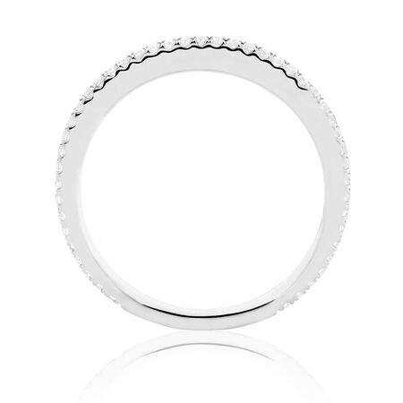 Sir Michael Hill Designer GrandAllegro Wedding Band with 0.23 Carat TW of Diamonds in 14ct White Gold