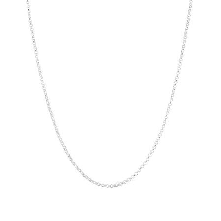 """50cm (20"""") Belcher Chain in Sterling Silver"""