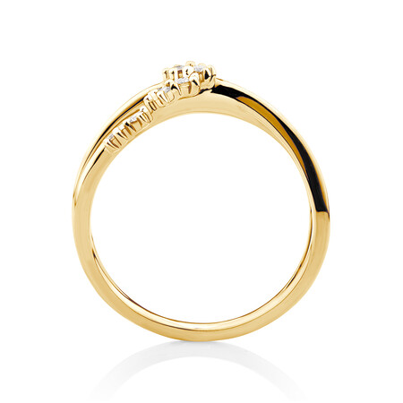 Scatter Ring with 0.15 Carat TW of Diamonds in 10ct Yellow Gold