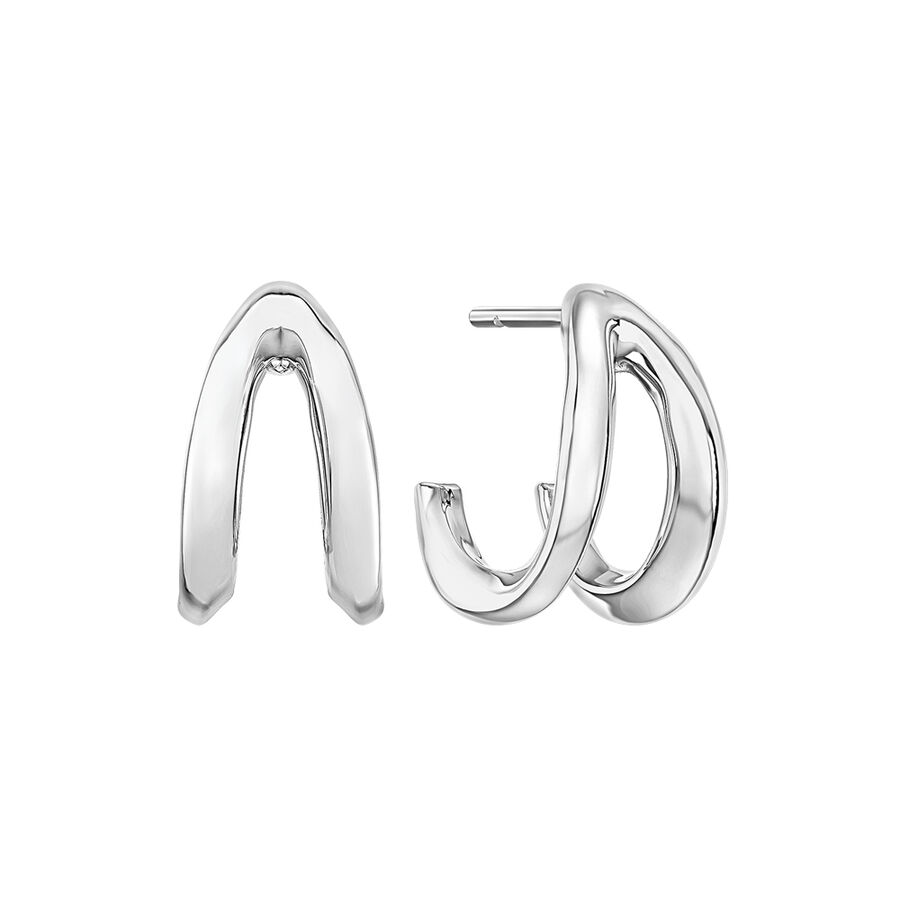 Mark Hill Wishbone Earrings in Sterling Silver
