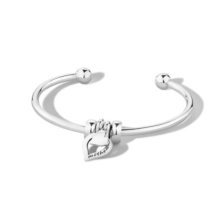 Ready to Wear Cuff Bangle in Sterling Silver