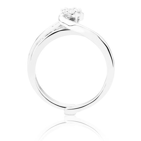 Bridal Set with 0.33 Carat TW of Diamonds in 10ct White Gold
