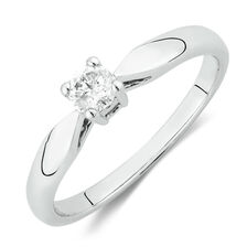 Solitaire Promise Ring with a 0.20 Carat Diamond in 10ct White Gold