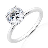 Lab Created 2 Carat Diamond Ring in 14ct White Gold