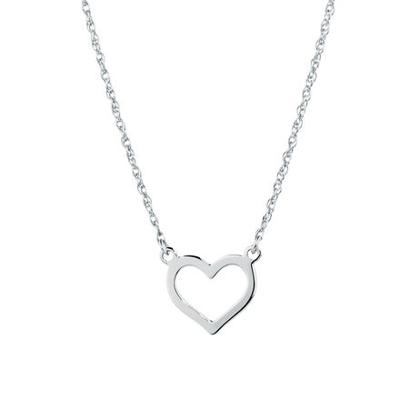 Heart Necklace in Sterling Silver