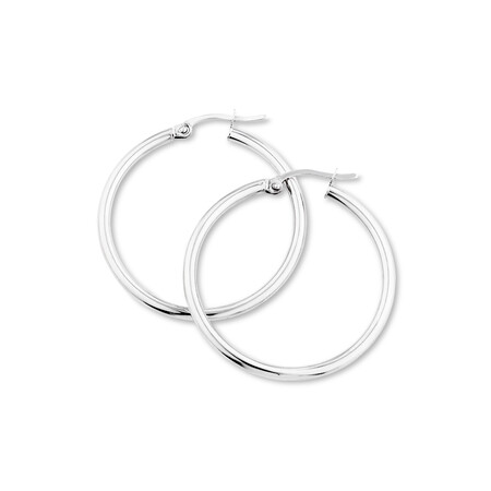 29mm Hoop Earrings in 10ct White Gold