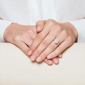 Sir Michael Hill Designer GrandArpeggio Engagement Ring with 0.87 Carat TW of Diamonds in 14ct White Gold