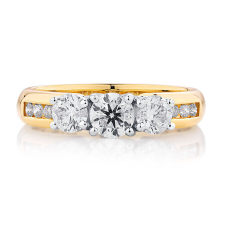 Evermore Engagement Ring with 1 Carat TW of Diamonds in 18ct Yellow & White Gold
