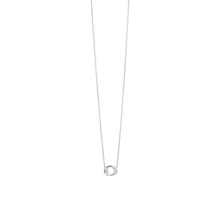 'O' Initial Necklace in Sterling Silver