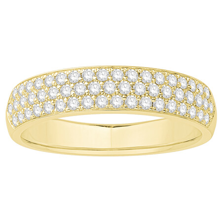 Multi Row Wedding Ring with 0.34 Carat TW of Diamonds in 14ct Yellow Gold