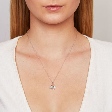Online Exclusive - Inifinitas Pendant with Diamonds in Sterling Silver