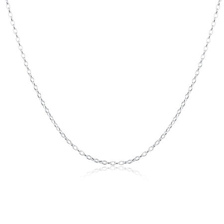 "50cm (20"") Oval Belcher Chain in Sterling Silver"