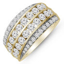 Swirl Ring with 2.00 Carat TW of Diamonds in 10ct Yellow Gold
