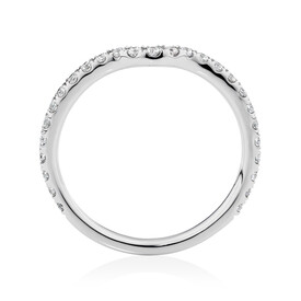Sir Michael Hill Designer Aria Wedding Band with 0.27 Carat TW of Diamonds in 14ct White Gold