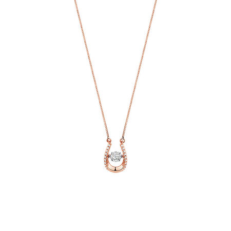 Everlight Pendant with 0.13 Carat TW of Diamonds in 10ct Rose Gold | Tuggl