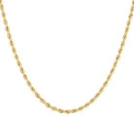 "55cm (22"") Hollow Rope Chain in 10ct Yellow Gold"