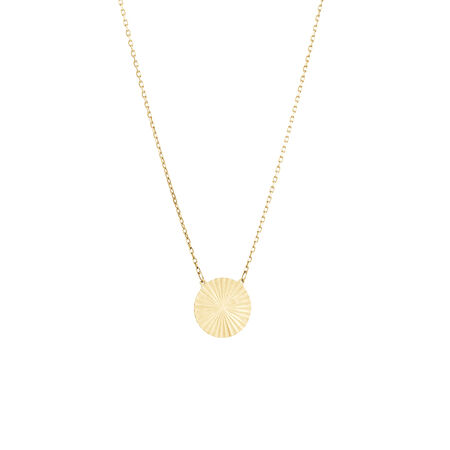 Circle Disc Necklace in 10ct Yellow Gold
