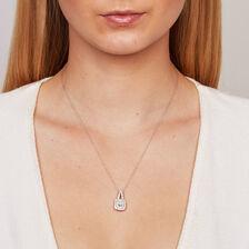 Michael Hill Designer Arpeggio Pendant with 1 Carat TW of Diamonds in 14ct White & Rose Gold