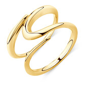 Mark Hill Wide Ring in 10ct Yellow Gold