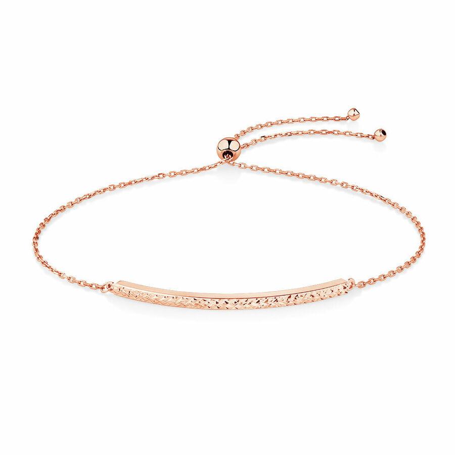 Adjustable Bar Bracelet in 10ct Rose Gold