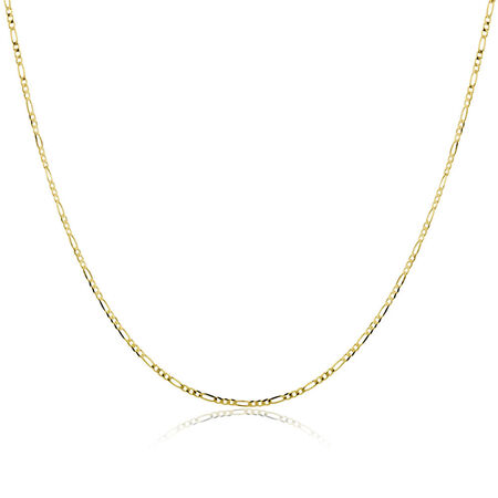 """60cm (24"""") Solid Figaro Chain in 10ct Yellow Gold"""