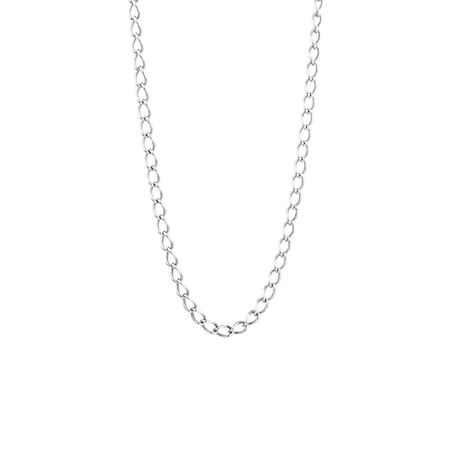 "Online Exclusive - 45cm (18"") Curb Chain In Sterling Silver"