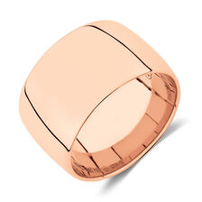 12mm Barrel Ring in 10ct Rose Gold
