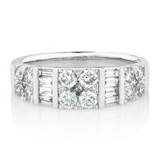 Online Exclusive - Wedding Band with 1.01 Carat TW of Diamonds on 14ct White Gold