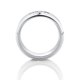 8mm Men's Ring with Enhanced Grey Diamonds in Grey Tungsten