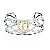 Infinitas Cuff with 1/2 Carat TW Diamonds in 10ct Yellow Gold & Sterling Silver