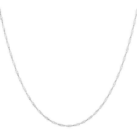 "45cm (18"") Singapore Chain in 14ct White Gold"