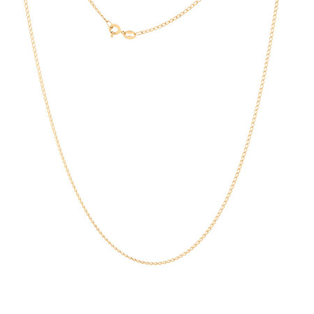 """70cm (28"""") Curb Chain in 10ct Yellow Gold"""