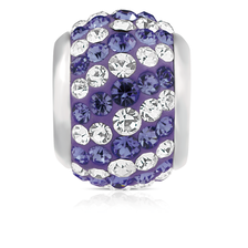Purple & White Crystal Charm
