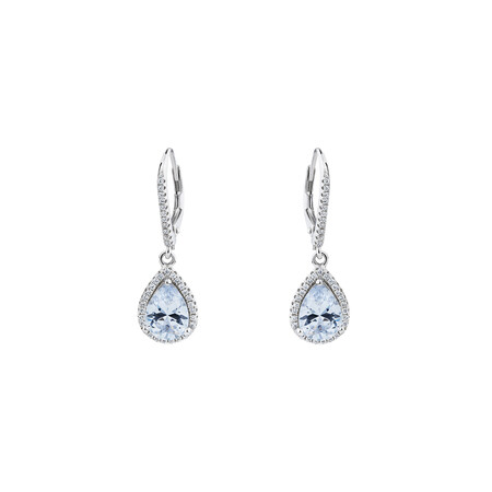 Earrings with Cubic Zirconia in Sterling Silver