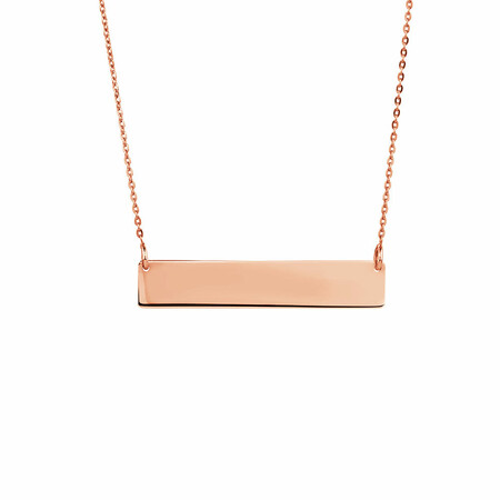 Bar Necklace in 10ct Rose Gold