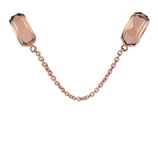 10ct Rose Gold Safety Chain