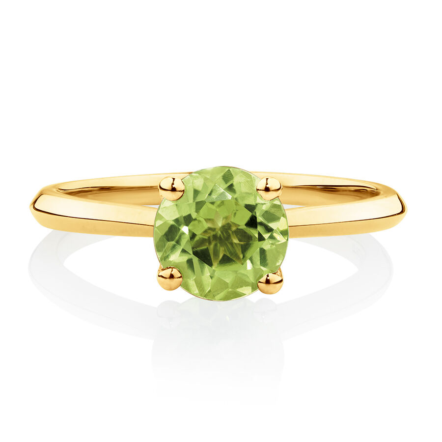 Ring with Peridot in 10ct Yellow Gold